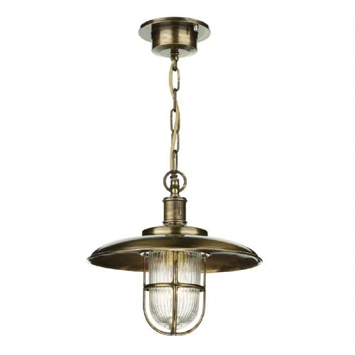 Captain Pendant Antique Brass Porch Light IP43 (Hand made, 7-10 day Delivery)